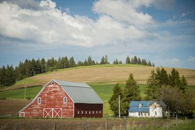 Idaho, Camas Prairie, Keuterville Farm and Barn