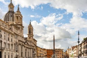 Italy, Rome. Piazza Navona, looking north. by Alison Jones