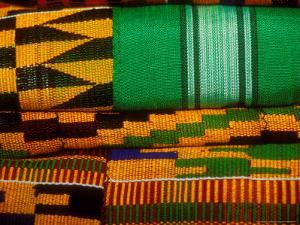 Kente Cloth, Artist Alliance Gallery, Accra, Ghana by Alison Jones
