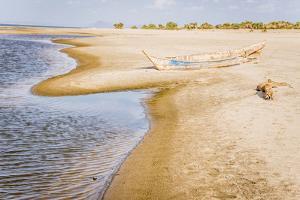 Kenya. Omo River Basin, Lake Turkana Basin, west shore of Lake Turkana, Lobolo Camp beach. by Alison Jones