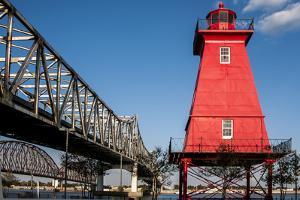 Southwest Reef Lighthouse, Atchafalaya Basin, Louisiana, USA by Alison Jones