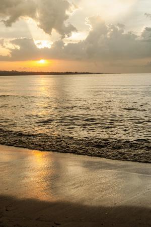 Tanzania. Lake Victoria beach sunset at Tembo Beach.