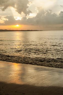 Tanzania. Lake Victoria beach sunset at Tembo Beach. by Alison Jones