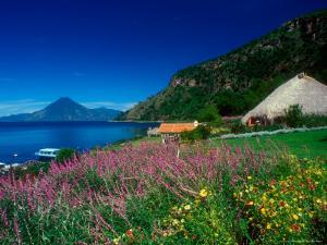 View of Hotel Grounds and Lake, Hotel Atitlan, Lake Atitlan, Guatemala by Alison Jones