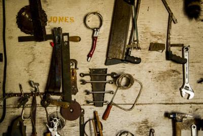 Washington State, Palouse, Whitman County. Pioneer Stock Farm, Tools Inside Farm's Shop