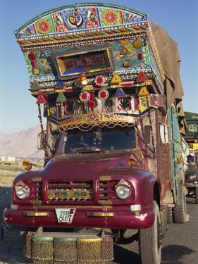 Decorated Truck, Typical of Those on the Karakoram Highway in Pakistan by Alison Wright