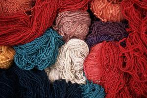 Dyed Wool by Alison Wright