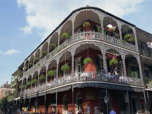 Exterior of a Building with Balconies, French Quarter Architecture, New Orleans, Louisiana, USA by Alison Wright