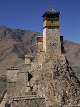 Exterior of Tower at Yumbu Lhakang, the Oldest Dwelling in Tibet, Central Valley of Tibet, China by Alison Wright