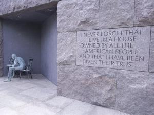 Franklin D. Roosevelt (F.D.R.) Memorial, Washington D.C., USA by Alison Wright