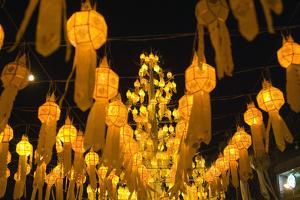 Lanterns for Loi Krathong festival. by Alison Wright