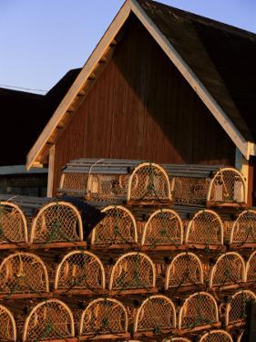 Lobster Traps in Rustico Harbour, Prince Edward Island, Canada, North America by Alison Wright