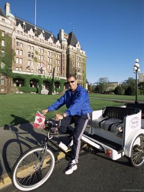 Pedicab, Victoria, British Columbia, Canada by Alison Wright