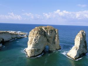 Rock Arches, Beirut, Lebanon, Mediterranean Sea, Middle East by Alison Wright