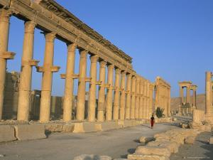 Ruins of the Colonnade, Palmyra, Unesco World Heritage Site, Syria, Middle East by Alison Wright