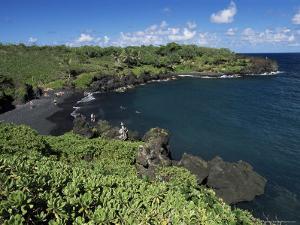 Walanapanapa Beach, Maui, Hawaii, Hawaiian Islands, Pacific, USA by Alison Wright