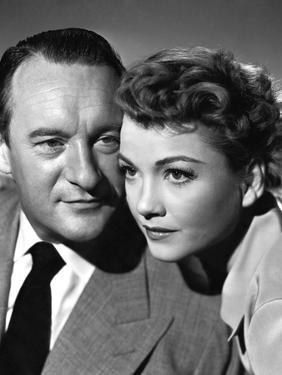 ALL ABOUT EVE, 1950 DIRECTED JOSEPH L. MANKIEWICZ with George Sanders / Anne Baxter (b/w photo)