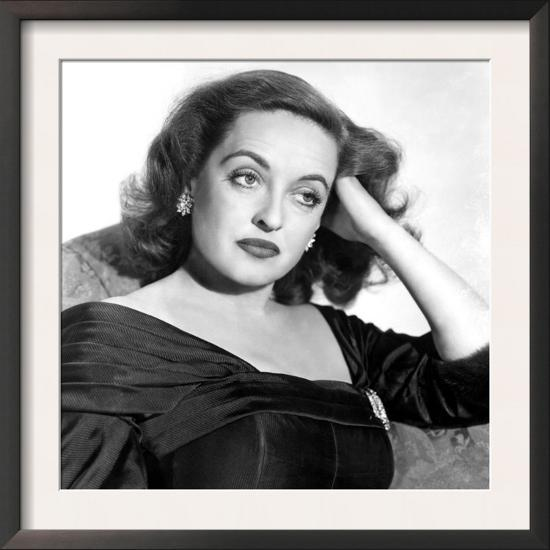 All About Eve, Portrait of Bette Davis, 1950--Framed Art Print