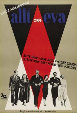 All About Eve, Swedish Movie Poster, 1950