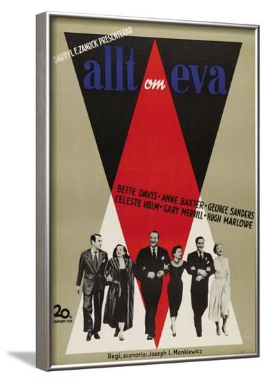 All About Eve, Swedish Movie Poster, 1950--Framed Art Print