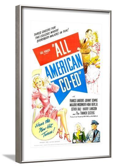 All American Co-Ed--Framed Art Print