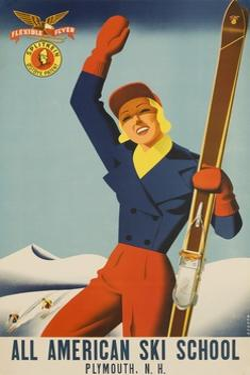 All American Ski School Travel Poster