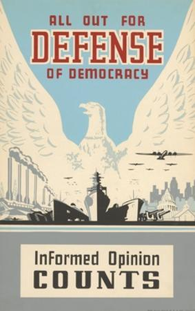 All Out for Defense of Democracy Poster