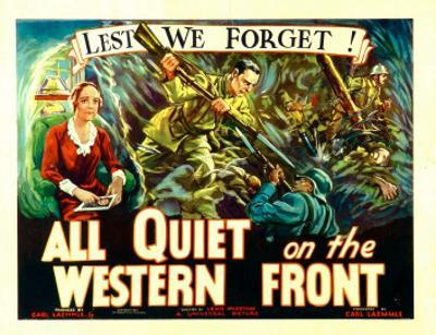 All Quiet on the Western Front, Poster Art, 1930