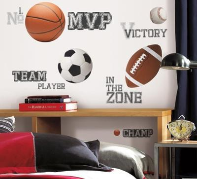 All Star Sports Saying Peel & Stick Wall Decals