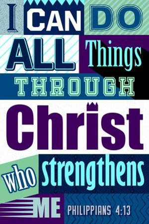 All Things Through Christ (blue)