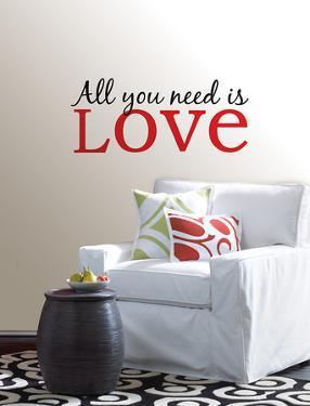 All You Need is Love Wall Art Kit
