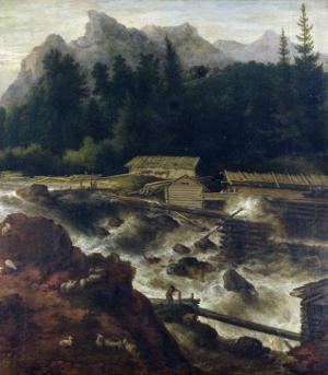 Scandinavian Landscape, 1670 by Allaert Van Everdingen