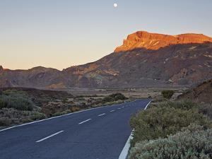 Tf-21 Road Running through Teide National Park by Allan Baxter