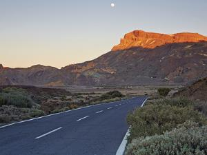Tf-21 Road Running through Teide National Park by Allan Baxter