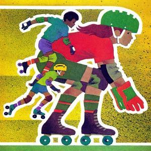 Roller Skate Race - Jack & Jill by Allan Eitzen
