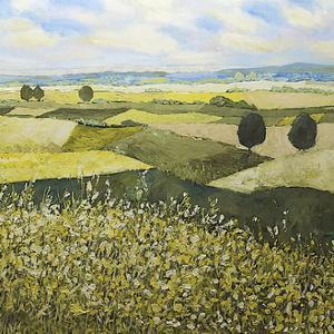 Green Hills by Allan Friedlander