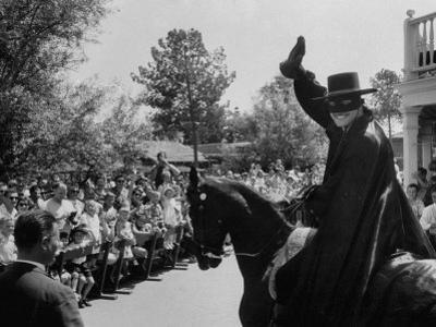 Actor Guy Williams Playing Zorro at Disneyland