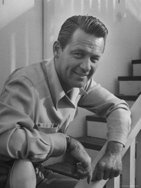 Actor William Holden Smiling for the Camera by Allan Grant