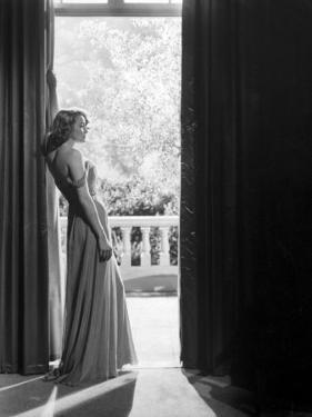 """Actress Patricia Neal in """"The Fountainhead"""" by Allan Grant"""