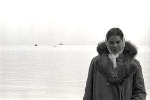 Carol Hall at Seattle's Fisherman's Wharf on a Misty Morning, Puget Sound, Seattle, Washington by Allan Grant
