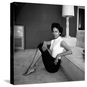 Casual Portrait of Actress Dorothy Dandridge at Home by Allan Grant