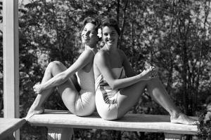 Celia Kyllingstad (R) and Carol Hall (L), at a Private Pool, Seattle, Washington, 1960 by Allan Grant