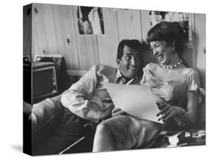 Entertainer Dean Martin Rehearsing a Scene with Actress Shirley MacLaine by Allan Grant