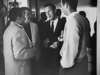 Golf Pro Arnold Palmer at a Party During the Palm Springs Golf Classic
