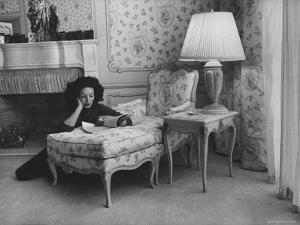 Mexican Actress Maria Felix at Her Home by Allan Grant
