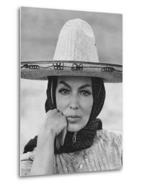 "Mexican Actress Maria Felix on Set New Picture ""Juana Gallo"" by Allan Grant"