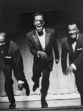 Performers, Sammy Davis Sr., Sammy Davis Jr., and Will Mastin, Together on Stage at Ciro's Dancing by Allan Grant