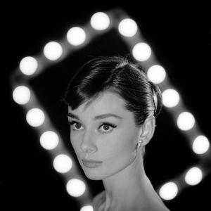 Portrait of Actress Audrey Hepburn by Allan Grant