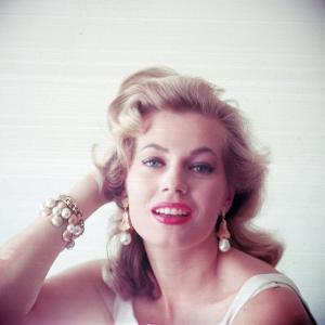 Portrait of Swedish-Born Actress Anita Ekberg with Ornate Bracelet and Earrings by Allan Grant