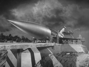 "Rocket Ship Being Built for the Movie ""When Worlds Collide"" by Allan Grant"